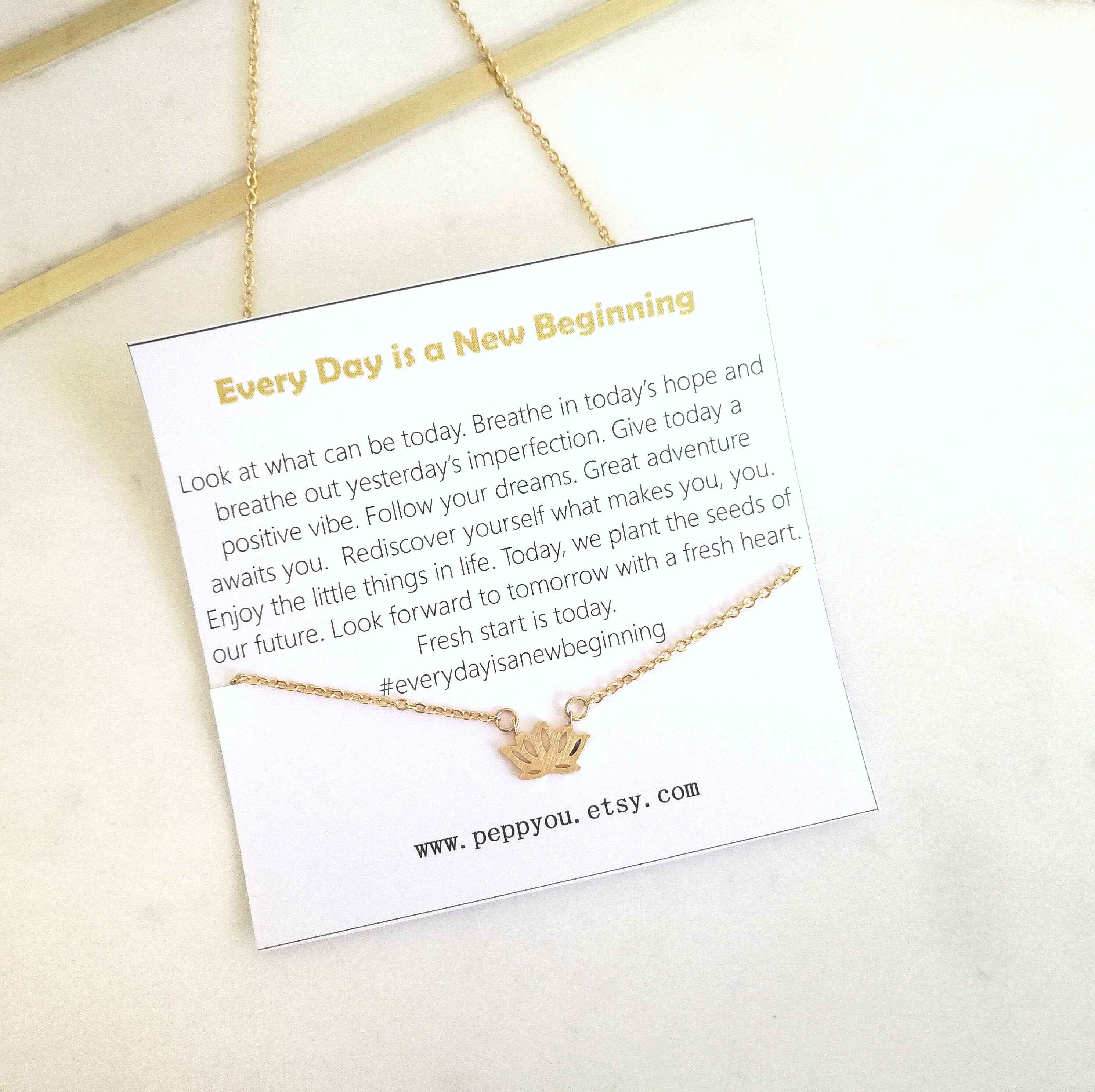 Lotus necklace new beginning necklace inspirational necklace lotus necklace new beginning necklace inspirational necklace delicate lotus necklace flower necklace yoga necklace lotus jewelry mightylinksfo