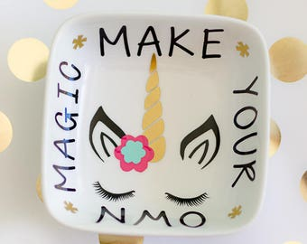 Unicorn, Unicorn ring dish, Ring dish, Unicorn gifts, Unicorn girls room decor, Unicorn jewelry dish, Gifts for her, Unicorn ring holder