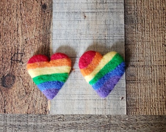 Felted heart, newborn photography props, felted photography prop, rainbow baby, rainbow prop, heart prop, newborn rainbow prop, rainbow baby