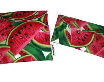 Reusable, waterproof, washable sandwich and snack bag. Fabric choice! Customizable