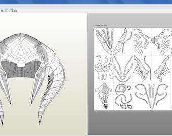 Pepakura Helmet Bor from Thor 2
