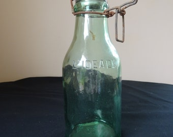 Antique french jar around 1950 marked the ideal glass with its CAP porcelain