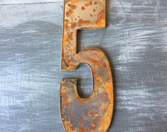 5 Inch Rusty Clock Numbers 1-12-clock set-DIY clock-spool clock-Clock Set-Rusty Numbers-Rusty Clock Parts-Rustic Clock Parts-Clock Crafts