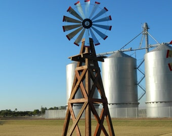 15 Foot Outdoor Windmill Kit -47 inch windmill-outdoor decor-farmhouse-real working windmill-yard decor-lawn decor-Decor-Black Friday Sale