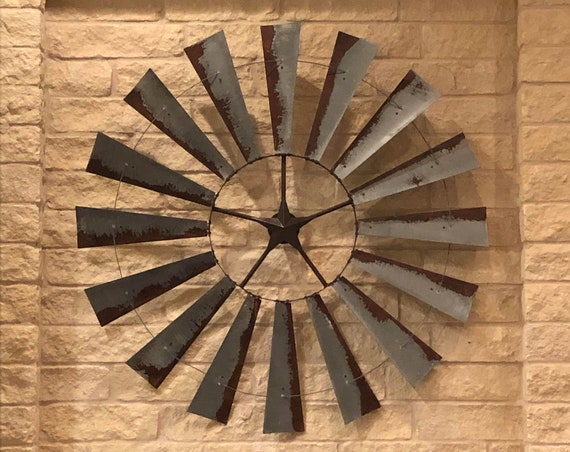 6 Foot Windmill-Massive Wall Art-Metal Wall Art-Large Room Decor-Vintage Decor-Barn Decor-Summer-Great Room-Large Wall Decor-Decor-Rust-Sale