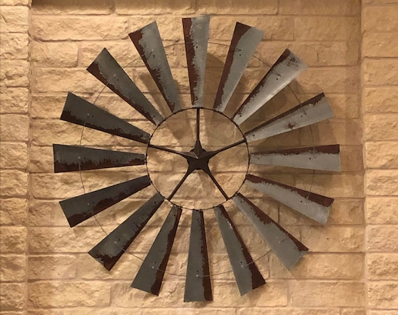 6 Foot Windmill-Massive Wall Art-Metal Wall Art-Large Room Decor-Vintage Decor-Valentine's Day-Great Room-Large Wall Decor-Spring Decor-Rust
