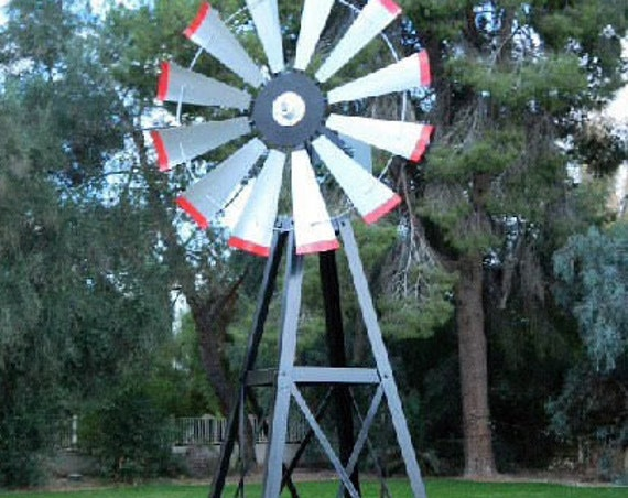 10 foot windmill tower with fully functioning windmill