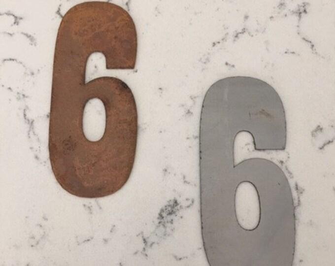 6 Inch Rusty Clock Numbers-Numbers 1-12-DIY clock-rusty numbers-Spool Clock-DIY Clock-Clack Parts-Rusty Clock Parts-Rusty Metal-Metal Number