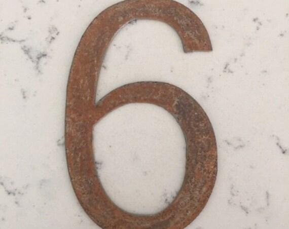 6 Inch Metal Numbers-Spool Clock parts-DIy Clock-Clock Parts-metal crafts-Clock Numbers-metal numbers-rusty numbers-vintage metal-crafts