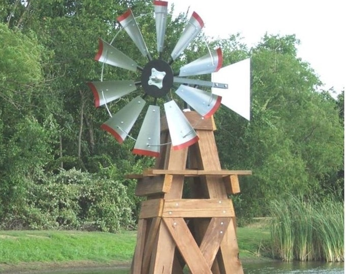 30 Inch Windmill Head and Tail Kit for 8 Foot Windmill tower- 30 Inch windmill-outdoor art-outdoor decor-farmhouse-farm decor-lawn art-Yard