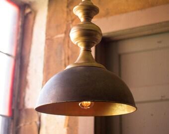 Modern Farmhouse Pendant Light with Antique Gold Finish