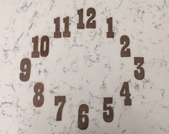 3 Inch Clock Number Set-Number 1-12- Rusty or Natural -Free Shipping-DIY clock-Spool Clock-Rustic Clock-Rusty Numbers-Metal Numbers