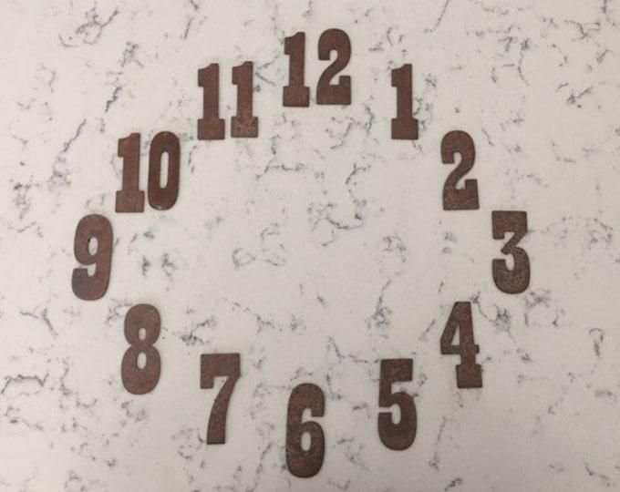 3 Inch Clock Number Set-Number 1-12- Rusty or Natural -Free Shipping-DIY clock-Spool Clock-Rustic Clock-Rusty Numbers-Metal Numbers