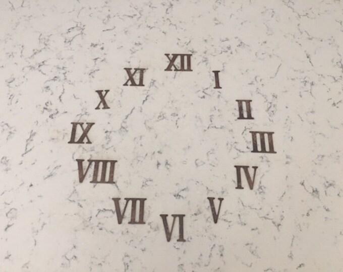 2 Inch Rusty Metal Roman Numeral Clock Numerals 1- 12 -DIY Clock-Spool Clock-Rusty Clock-Roman Numerals-Rustic Clock-DIY-Rusty Metal