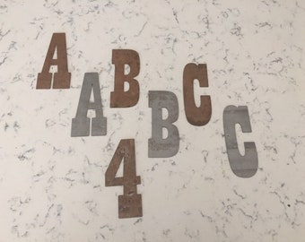 4 Inch Metal Letters-Rusty or Natural Steel-Craft Projects-Sign Letters-Rusty Letters-Metal Letters-DIY Metal-Rustic Letters-Vintage Letters