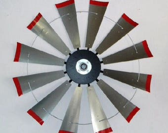 Large 38 Inch windmill Head with Red Tips and Center Cap