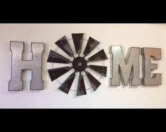HOME wall decor with 30 Inch Windmill
