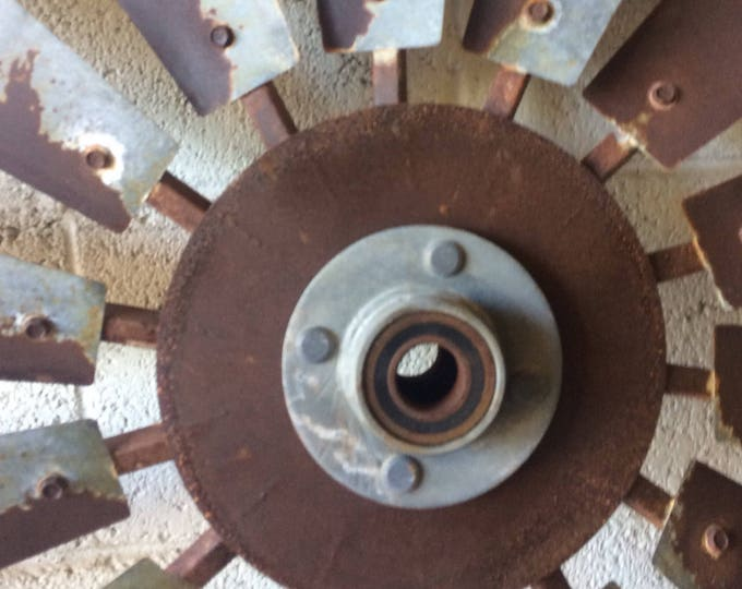 Large Galvanized Center Cap-Windmill Parts-Rustic Hardware-Authentic Windmill Parts