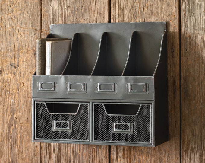 Four Pocket Organizer with Two Drawers