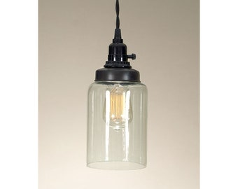 Medium Cylinder Jar Pendant Lamp