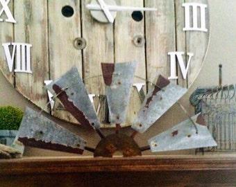 30 Inch Metal Windmill Half
