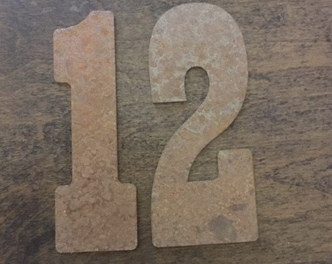 12 Inch Large Clock Number Set-Numbers 1-12-Clock Parts-Spool Clock-DIY Clock-Rusty Numbers-Natural Steel Numbers-Clock Kit-Vintage Clock