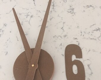 Rustic Clock Set-6 Inch Rustic Metal Numbers and Clock Mechanism with Hands-DIY Clock-Spool Clock-Clock Kit-Clock Project-Rusty-Clock Parts