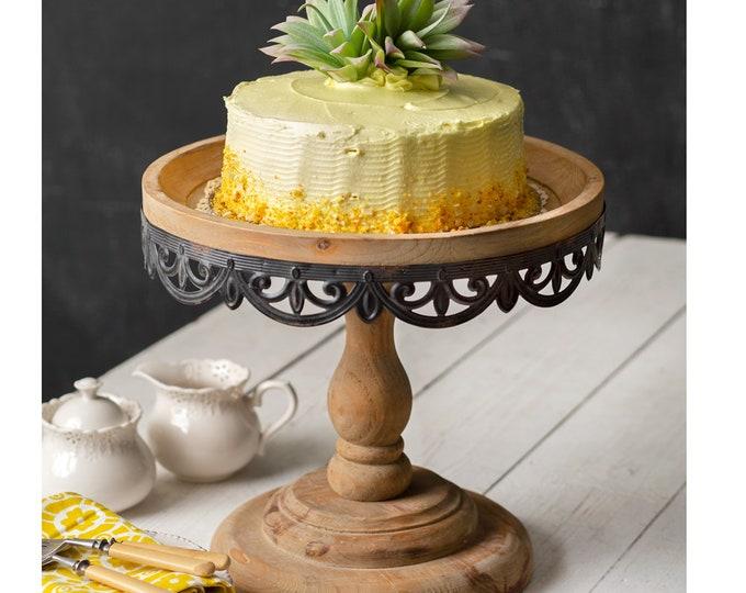 Large Wooden Sommerset Dessert Stand