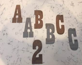 2 Inch Metal Letters-Rusty or Natural Steel-Craft Projects-Sign Letters-Rusty Letters-Metal Letters-DIY Metal-Rustic Letters-Vintage Letters