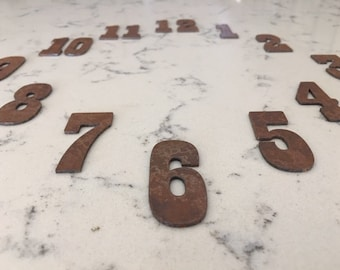 2 Inch Rusty Clock Set-Number 1-12-FREE SHIPPING-DIY Clock-Spool Clock-Rustic Clock-Clock Numbers-Rusty Numbers-Clock Numbers-Metal Numbers