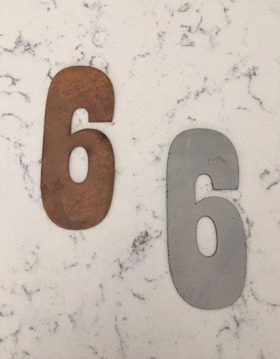 4 Inch Metal Numbers-RUSTY NATURAL-Crafts-DIY Metal-Address Numbers-Steel-Clock Numbers-Unpainted metal-Craft supplies-Outdoor Metal-Clock