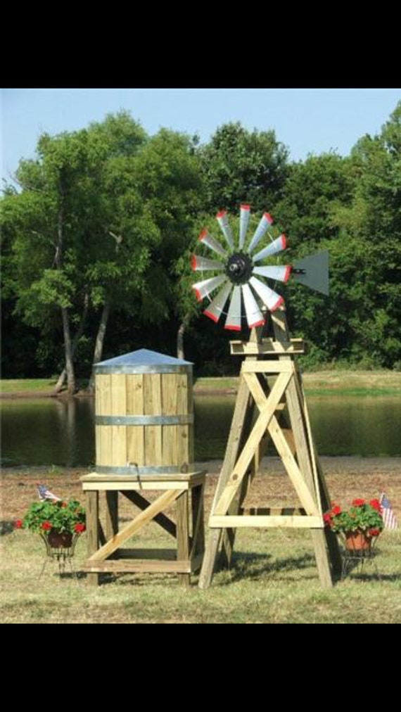 11 Foot Windmill Head and tail Kit - 38 inch- yard decor- real windmill- Garden- outdoor accents-Spring Decor -Yard Gift-DIY Windmill