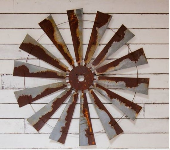 Authentic 47 Inch Large Rustic Windmill Head