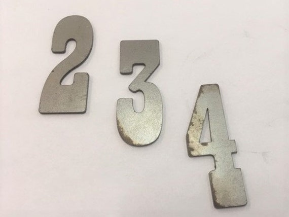 2 Inch Metal Numbers-Craft Numbers-DIY Metal-Address Numbers-Natural Steel-Clock Numbers-Unpainted metal-Craft supplies-Outdoor Metal