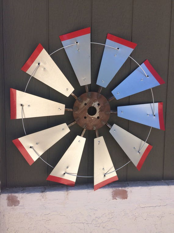 30 Inch Windmill with Adhesive Red Tips