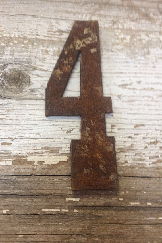 4 Inch Clock Number Set- Rusty OR Natural-Numbers 1-12 -DIY clock-Spool Clock-Rustic Clock-DIY-Metal Numbers-Rusty Numbers-Free Shipping