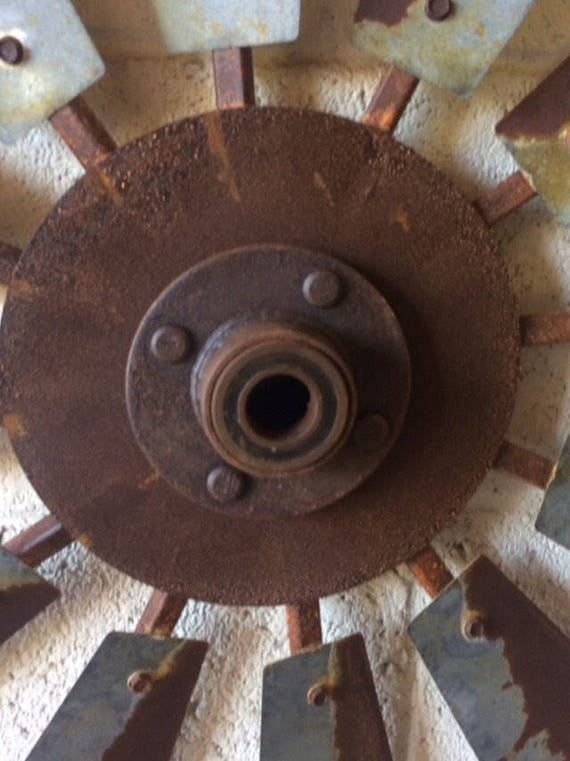 Rusty Windmill Center Cap- Authentic Windmill Parts-Windmill Accessories-Rustic Windmill Parts