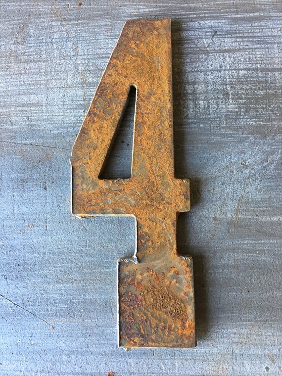 4 Inch Rusty Clock Numbers- DIY clock-Metal Numbers-Spool Clock-Wood Clock- Clock set- Rustic Numbers-Distressed Numbers