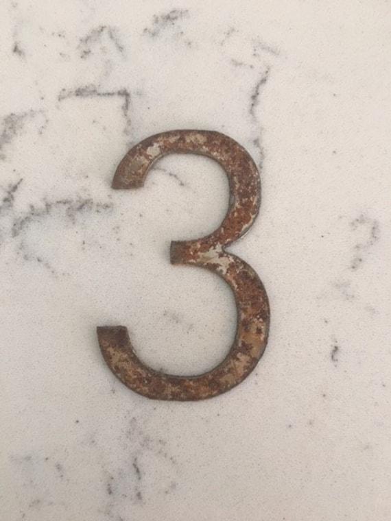 3 Inch Clock numbers 1-12-spool clock-DIY clock-metal numbers-rusty numbers- numbers-vintage metal- clock numbers-rusty metal-numbers
