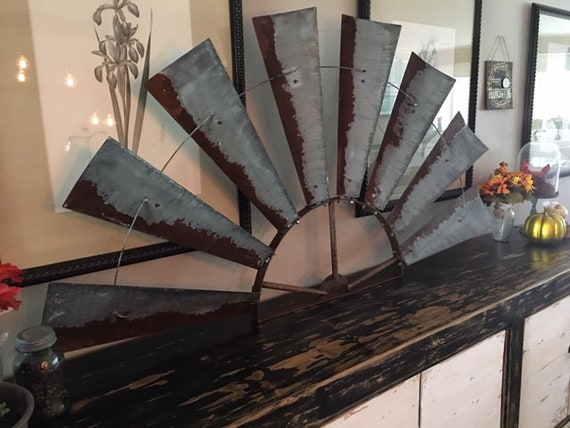 6 Foot Wide Freestanding Windmill Half - Large Decor- Free shipping-72 Inch Windmill-Windmill Half- Wall Decor -Black Friday- Christmas Gift