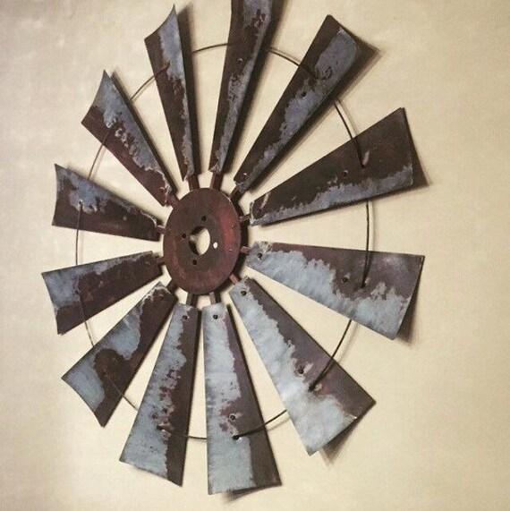 38 Inch Rusty Windmill Head