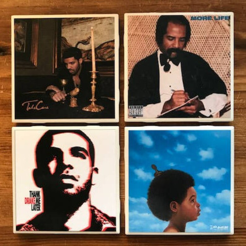set of 4 tile coasters Tool Coasters band coasters album covers