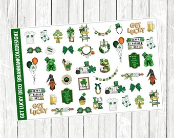Get lucky deco planner stickers