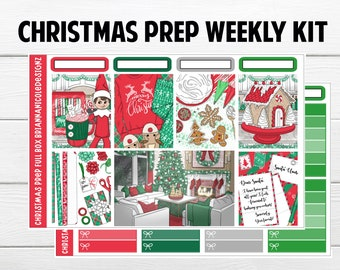 Christmas prep weekly kit planner stickers //Christmas stickers