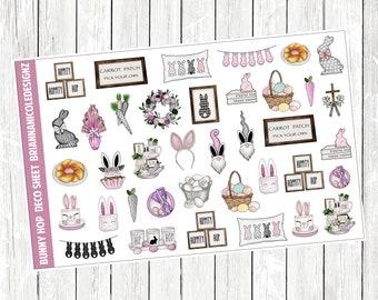 Bunny hop deco planner stickers