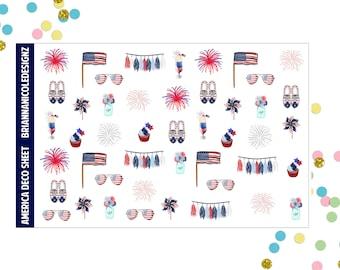 America deco planner stickers
