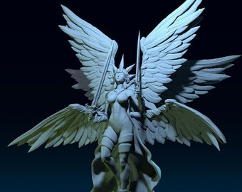 Angel Of Justice - 3D Miniature - DND Role Playing Game RPG Pathfinder Tabletop Figure for Painting - Warrior Mini