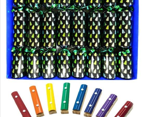 Musical Christmas Crackerswith Mini Xylophones - Christmas Tree Forest Family Christmas Crackers
