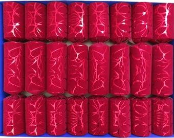 Red Crushed Velvet Flock Fill Your Own Christmas Crackers