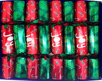 Set of 8 Christmas Crackers with Nativity Decorations - assorted designs